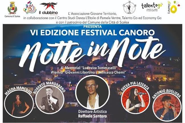 Scalea, il 18 e 19 agosto torna 'Notte in note' nel ricordo di Ludovica, Giovanni e Francesco